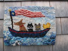 Making art with wool. An interactive rug-hooking community. Rug Hooking Kits, Rug Hooking Patterns, Embroidery Needles, Knitting Needles, Hook Punch, Rugs Online, Ark, Wool Rug, Primitive
