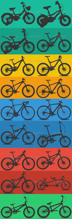 18 Bike Silhouettes