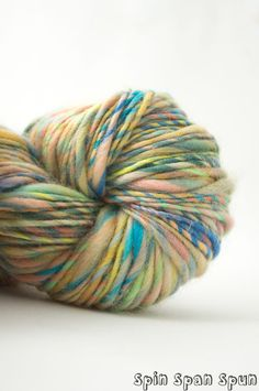 Tropical Twist HandSpun and Hand dyed Yarn by SpinSpanSpun on Etsy