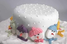 Christmas Cake Decorating Class for at Angel Cakes Off) Christmas Cake Designs, Christmas Cake Decorations, Christmas Cupcakes, Christmas Sweets, Holiday Cakes, Christmas Goodies, Christmas Baking, Christmas Christmas, Christmas Wedding
