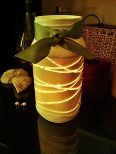 Painted mason jar lantern
