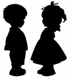 children silhouettes | children silhouette
