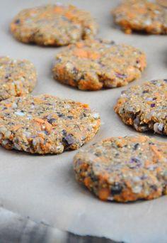 Sweet Potato Veggie Burgers -- vegan, gluten-free