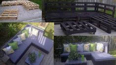 Sofa and chaise-long made of pallets