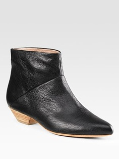 Belle by Sigerson Morrison Pebbled Leather Ankle Boots