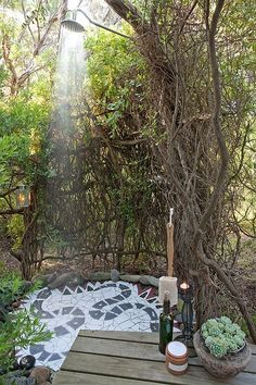 outdoor shower au endusche eingebettet in bambus bestens geeignet als sichtschutz f r eine. Black Bedroom Furniture Sets. Home Design Ideas