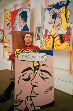 Roy Lichtenstein, 1963 flawed genius check out his first works before the dots!! Terrible.. My boy has done better!!