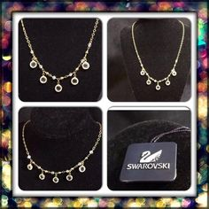 "Swarovski Necklace Bezel Set Crystal Drop 18"" Swarovski Necklace Bezel Set Crystal Drop 18"" Gold-Tone Chain  Beautiful necklace in brand new condition. Tags are still attached  Adjustable Swarovski Jewelry Necklaces"