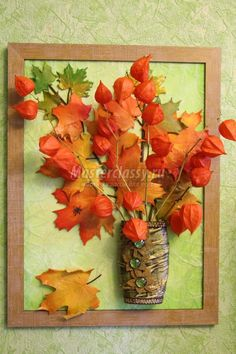 картина-панно с кленовыми листьями из холодного фарфора Deco Floral, Arte Floral, Art Activities For Kids, Autumn Activities, Autumn Crafts, Nature Crafts, Leaf Crafts, Flower Crafts, Creative Crafts