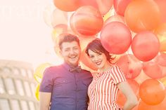 Kolby & Kennedy are all kinds of cute... and you know what? I still love balloons shoots. I'm sorry but I just can't help it I actually don't care if they're not 'cool' anymore. I mean especially when the couple are this gorgeous! How can you not adore this? Hher dress, his bow tie, those orange balloons, that light! - picture perfection.