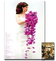 Elsa Corsi Art Deco earring with crystal baguettes featured in 2014 winter issue of Wedluxe Magazine - Hair + makeup Jayna Marie - Florals Sunflower Florist - produced and photographed by Jasalyn Thorne
