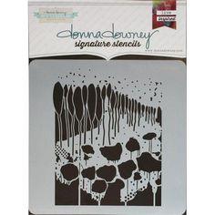 "Donna Downey Signature Stencils, 8.5""X8.5"" - Poppy Field – TupeloDesignsLLC"