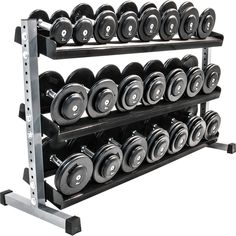 Dumbbell Set With Rack, Home Made Gym, Home Gym Equipment, My Gym, Aluminium, Gym Workouts, Cool Things To Buy, Metal, Gym Fitness