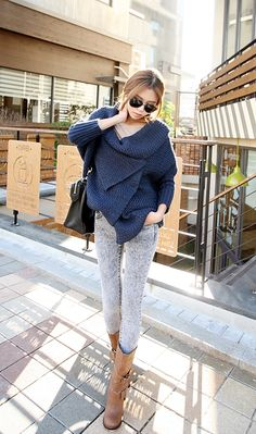 Sweater and jeans Korean style! -Lily