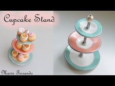Miniature Shabby Chic Vintage Inspired Cupcake Stand Tutorial