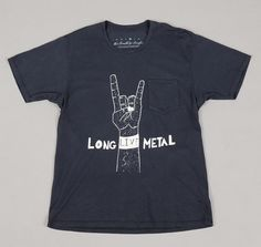 "CREATIVE GROWTH :: Nick Pagan ""Long Live Metal"" Pocket T-Shirt, Black"