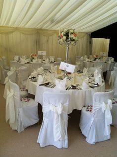 Candelabras make great centrepieces, but you must ensure they are not too close to the roof drapes.