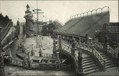 Electric Park, Detroit's first mammoth amusement enterprise, opened May near the Belle Isle Bridge Detroit History, Detroit News, Michigan Travel, Detroit Michigan, Dearborn Michigan, Flint Michigan, Great Lakes, Abandoned Places, Rue