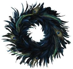 feather wreaths | Peacock Feather Wreath | For the Home