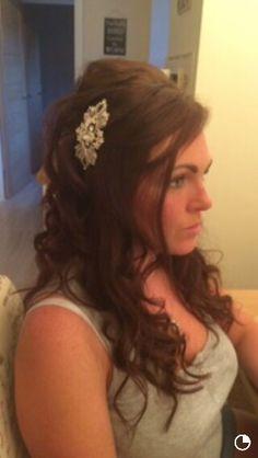 Half up half down bridal hair by Helen