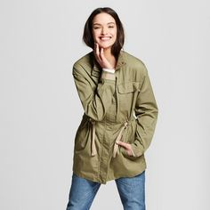 Women's Military Jacket - Universal Thread™ Olive : Target