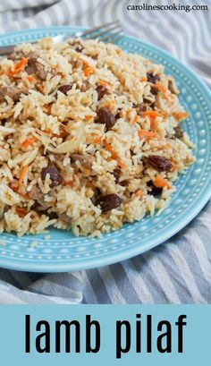 This delicious lamb pilaf based on the traditional Afghan/Uzbek dish is an easy one pot meal but packed with flavor. Great for leftover roast lamb. Leftover Lamb Chops Recipe, Leftover Lamb Recipes, Leftover Roast Lamb, Lamb Roast Recipe, Leftovers Recipes, Easter Side Dishes, Easy One Pot Meals, Easy Healthy Recipes, Delicious Recipes