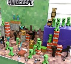 Mojang Minecraft, Minecraft Toys, Cool Minecraft, Minecraft Party, Craft Activities For Kids, Crafts For Kids, Minecraft Wither, Birthday Party Decorations Diy, Cute Food Drawings