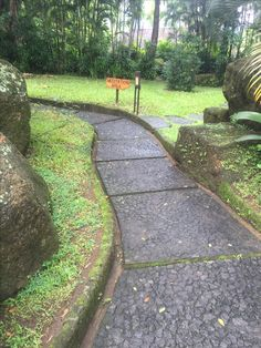 Long view of grit path