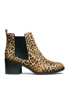 33e9b421b Botins - Estampado leopardo - SENHORA | H&M PT. Leopard Ankle BootsMotif ...
