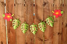 Tiki Luau Hawaiian Party Aloha Banner. $18.00, via Etsy.