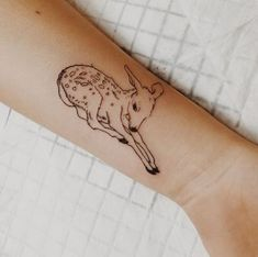 Imagem de tattoo, deer, and bambi