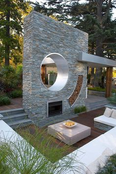 Sunken Patio Home Design Ideas, Pictures, Remodel and Decor Modern Landscape Design, Modern Garden Design, Modern Landscaping, Terrasse Design, Patio Design, House Design, Chair Design, Grill Design, Sunken Patio