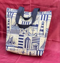 Lovely summer and holiday bag! Practical size, water repellent lining, 2 inner pockets. Short and ling handles. A tough bag 🙂 Can Design, Design Your Own, Tote Bags Handmade, Unique Bags, You Bag, Carry On, Diaper Bag, Pockets, Water
