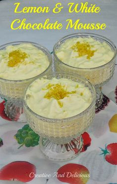 Lemon and White Chocolate Mousse ~ light, refreshing and zesty! #LemonMousse #ChocolateMousse