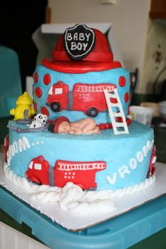 Firefighter Baby Shower Party Ideas | Baby Shower Parties, Firefighter Baby  Showers And Shower Party