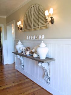 See that big old piece of wood? So much style! HGTV Dream Home Beautiful Room Pictures : Dream Home : Home & Garden Television Hgtv Dream Homes, Diy Home Decor, Room Decor, Coastal Decor, Wall Decor, Wall Art, Coastal Living, Coastal Entryway, Diy Casa