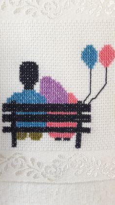 Wedding Cross Stitch Patterns, Modern Cross Stitch Patterns, Cross Stitch Designs, Cross Stitch Embroidery, Embroidery Patterns, Cross Stitch Family, Everything Cross Stitch, Diy And Crafts Sewing, Diy Crafts