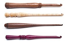 Stephen Willette crochet hooks: these are my favorite hooks of all time! each is handmade and unique, of gorgeous woods, and the willettes are the loveliest people you've ever met. an excellent gift for any crocheter. --cal patch