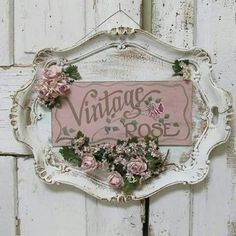 Serving tray wall hanging shabby cottage chic painted 'vintage rose' plaque roses millinery flower embellished sign decor anita spero design - Ornate platter hand painted sign wall hanging by AnitaSperoDesign - Cottage Shabby Chic, Cocina Shabby Chic, Shabby Chic Crafts, Shabby Chic Living Room, Shabby Chic Kitchen, Shabby Chic Homes, Shabby Chic Furniture, Shabby Chic Decor, Rose Cottage