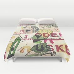 diamond vs guns vs smiles Duvet Cover by Oga Mendonça  - $99.00