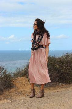 Photodiary San Diego Balboa Park San Diego Zoo Point Loma // My Style Influencer : Sunnies Komono /  Long dress HandM /  Waisted belt vintage /  Scarff Urban Outfitters