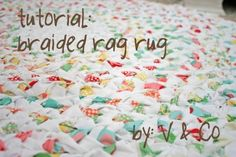 Beautiful rag rug made from jelly rolls