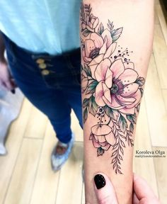 Flowers tattoo by Olga Koroleva