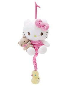 hello kitty baby bear pull down musical plush