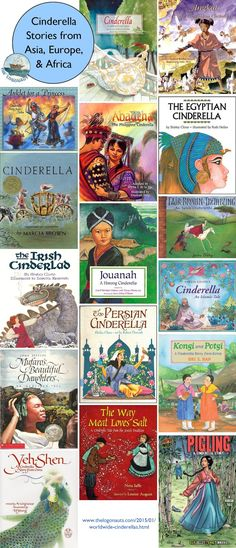 Worldwide Cinderellas, Part Asia, Europe, & Africa from /thelogonauts/ Traditional Literature, Traditional Tales, Teaching Reading, Teaching Kids, Reading Lists, Guided Reading, Learning, Library Lessons, Library Books