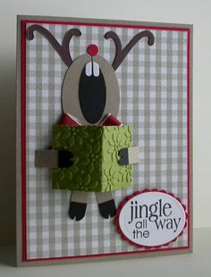 Singing reindeer card