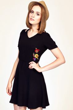 SS14 Desert Flower Dress - Black - Sugarhill Boutique