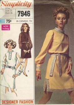 Simplicity Designer Fashion 1960s Sewing by AdeleBeeAnnPatterns, $6.00