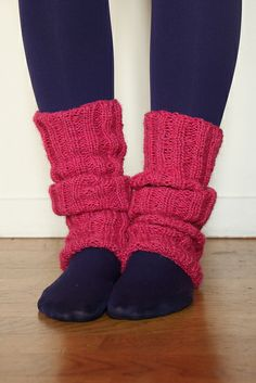 Easy leg warmers #knitting #free #pattern