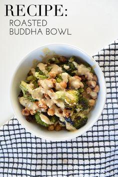 Roasted buddha bowl recipe   glitterguide.com